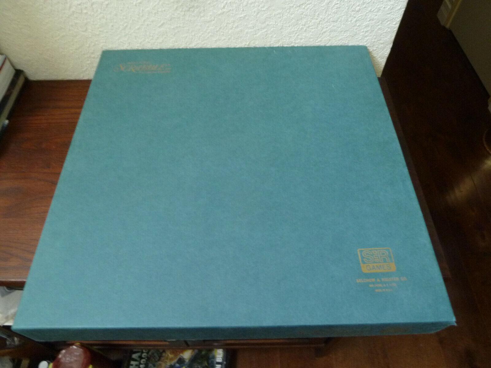 Vintage 1977 Deluxe Scrabble Game redating Turntable Maroon Tiles 100% Complete