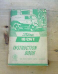 FORD-THAMES-10-CWT-PETROL-ORIGINAL-1952-OWNERS-INSTRUCTION-HANDBOOK