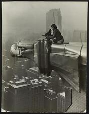 Margaret Bourke-White atop the Chrysler Building,New York,NY,c1932,Gargoyle