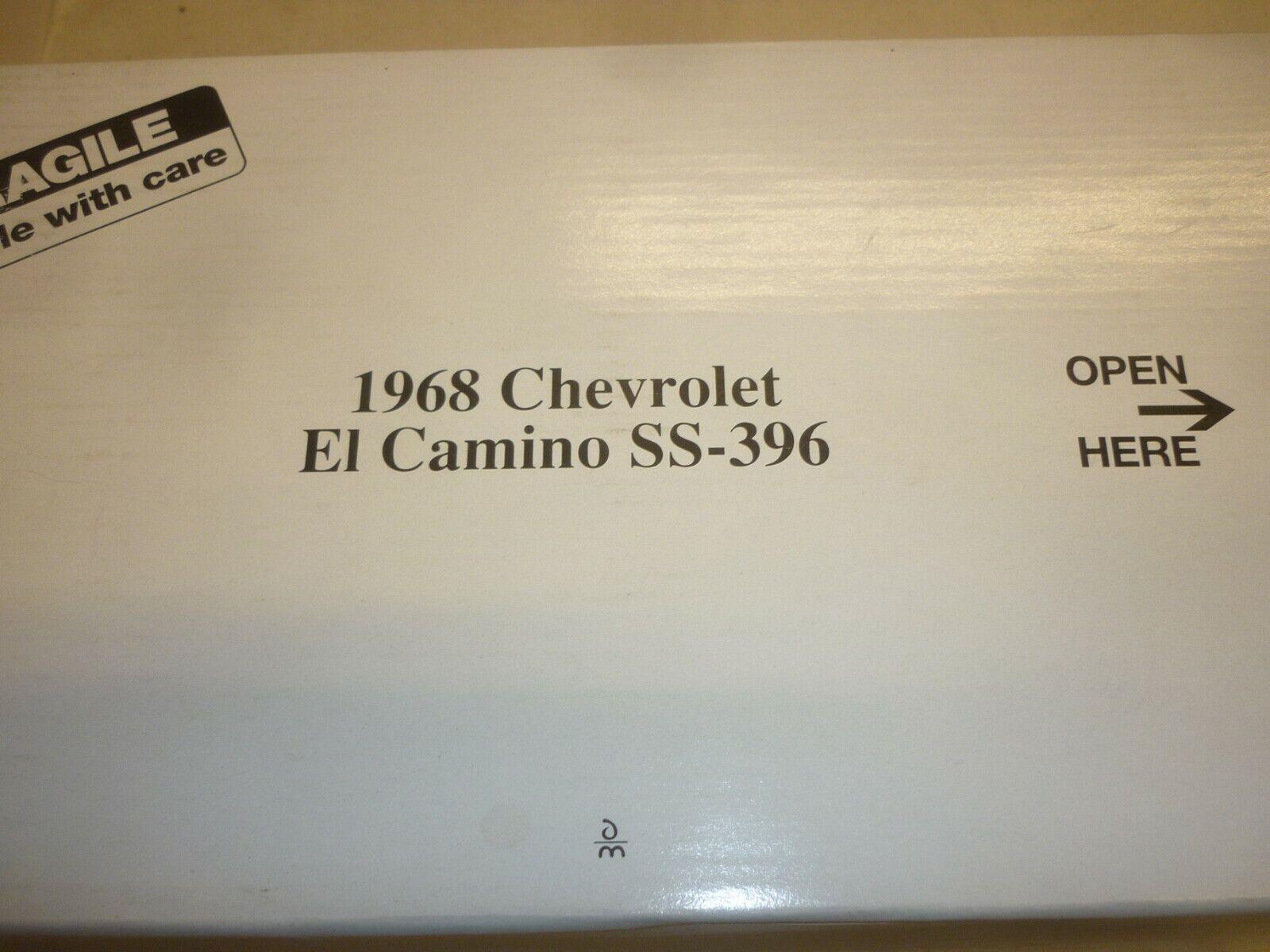 En Danbury mint modelll av en 1968 Chevrolet El Camino, SS 396.Boxning