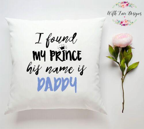 custom Oreiller Coussin Cadeau Mon prince Papa Papa Fête des Pères personnalisée