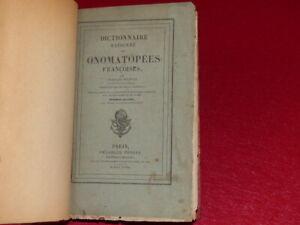 CHARLES-NODIER-DICTIONNAIRE-RAISONNE-DES-ONOMATOPEES-1828-Tres-Rare-Relie