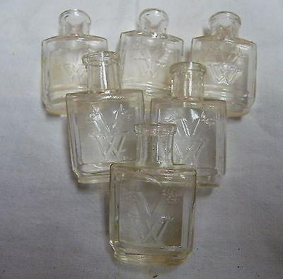 Minifläschen kleine Glasflasche Apotheke Parfum Kaufmannsladen 20//30er Jahre