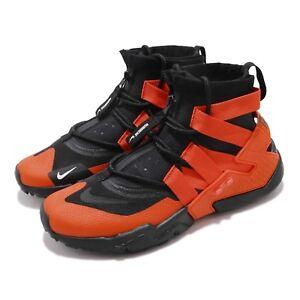 the best attitude 0f13c ae5f6 Image is loading Nike-Air-Huarache-Gripp-Black-Team-Orange-Men-