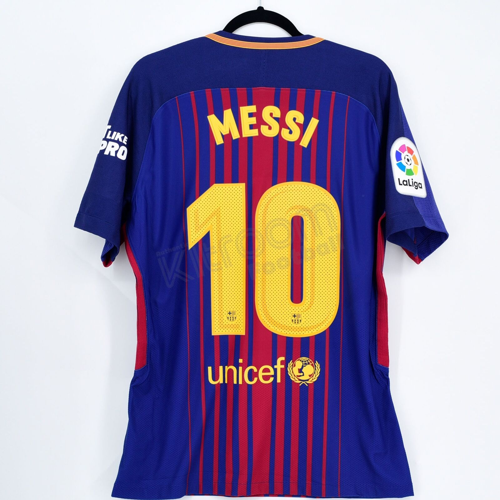 2017-18 Barcelona Jugarer Issue Home Shirt Messi  10 vs Real Madrid Eat Like a...