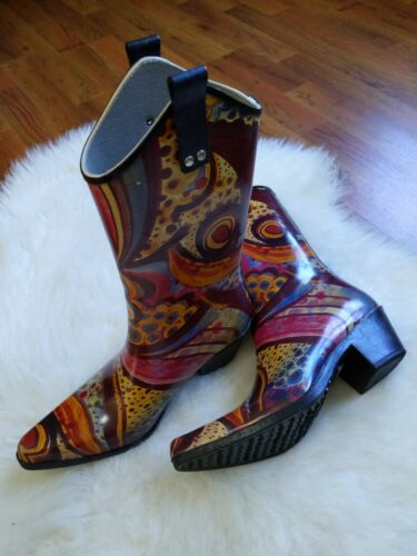Nomad Woman's Yippy Rubber Cowboy Wellie Colorful