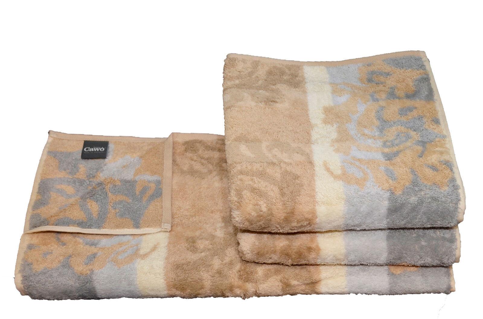 Cawö Noblesse Cashmere Jacquard Set Handtuch Handtücher Duschtuch günstig online | Sorgfältig ausgewählte Materialien