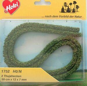 (9 €/m) Heki 1752 Flexible Haies, 2 Thujahecken, Hauteur 12 Mm, Par 50 Cm De Long-afficher Le Titre D'origine Acheter Un Donner Un