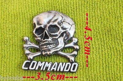 Insigne Tête de Mort Commando Rouge Hauteur:4.5 cm