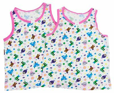 3//4 2//3 REDUCED 2 x Girl`s Hey Duggee Vests Age 18//24 4//5 And 5//6