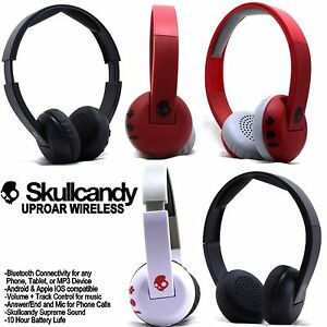 Skullcandy-Uproar-Wireless-Bluetooth-Headphones-with-Mic-Black-White-Red-NEW