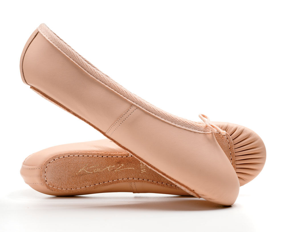Wide Fitting Pink leather full sole ballet shoes All sizes By Katz Dancewear