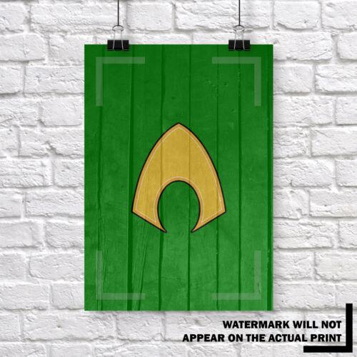 Buy 1 Get 2 FREE DC Comics Super Hero Wood Grain Kids Wall Art Print