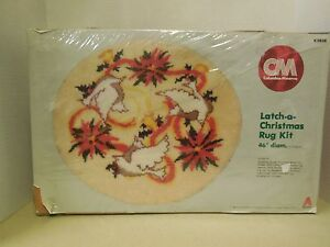 Image Is Loading Christmas Dove Latch Hook Rug Or Tree Skirt