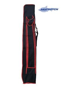MDI-Match-6ft-185cm-Select-5-Tube-Fishing-Holdall-in-Black-039-n-039-Red