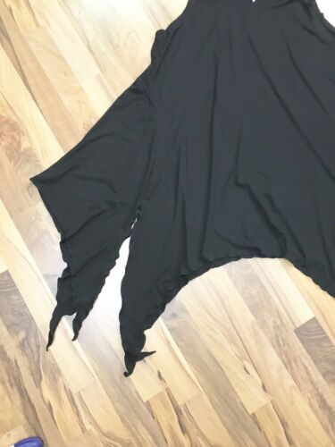 a lagenlook • a cm 8 nero larghezza 64 • Myo punte • cappuccio tunica • raffinato qXtnHdw