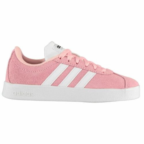 adidas Kids VL Court Suede Lace Up Running Sports Shoes Trainers Pumps Sneakers