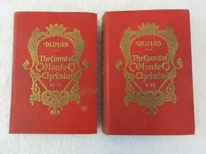Lot-of-2-Alexandre-Dumas-THE-COUNT-OF-MONTE-CHRISTO-Tormer-Glydahl-amp-Hansen-1914