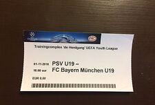 Sammler Used Ticket UEFA Youth League PSV Eindhoven FC Bayern München 01.11.16