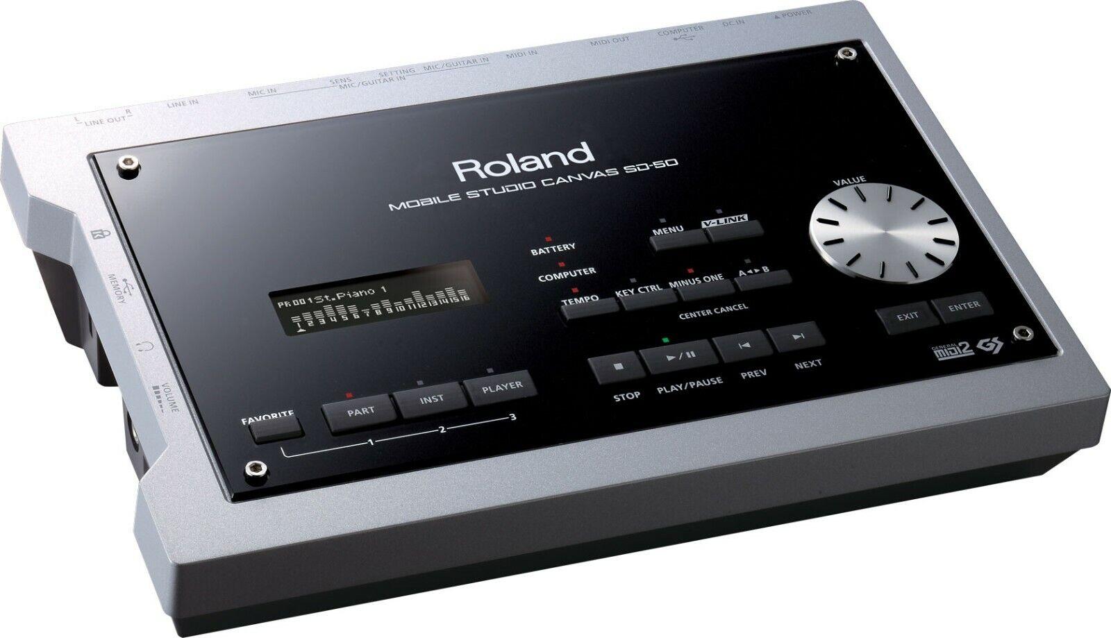 Roland SD-50 Mobile Studio Canvas Mobile Sound Module with DAW Software