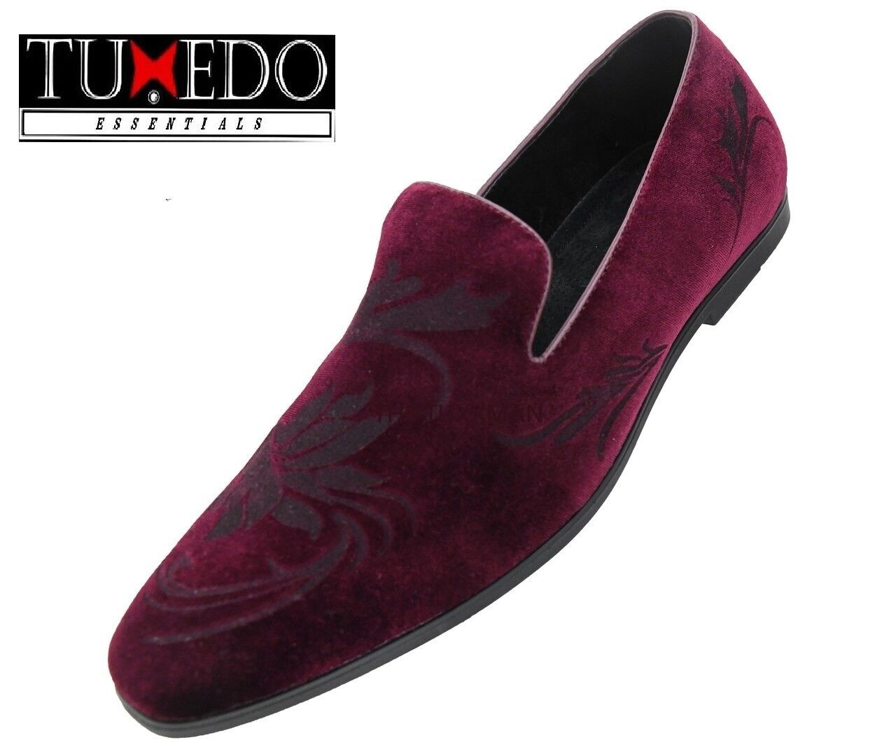 New Mens Burgundy Floral Embossed Dress shoes New Years Celebration 2019 Tux