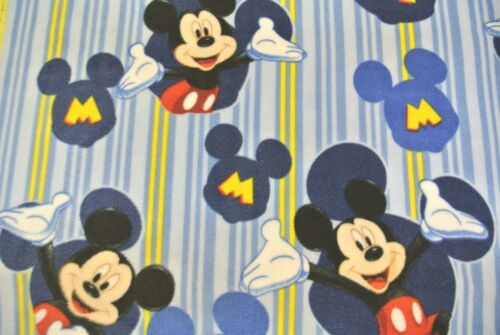 Mickey Mouse Baby Blanket Can Personalize Toddler 28x44 Stripe