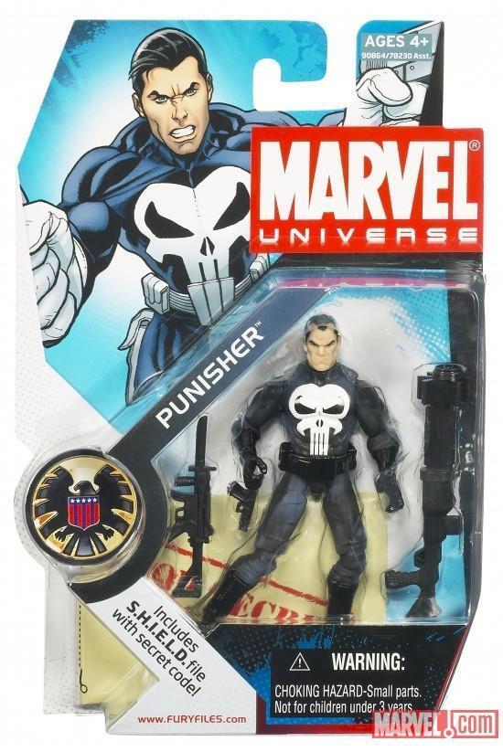 Hasbro Rare 2008 Marvel Universe 3.75  Punisher 020 MOSC MISB