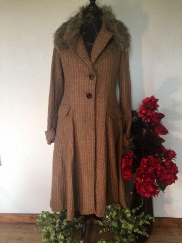 Bohémien Bohême de Hippy Lagenlook 239 Suède manteau de Superbe € TXAfwpqW