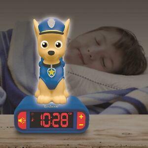 Paw-Patrol-Chasse-Veilleuse-Alarme-Horloge-Bureau-Coucher-Garcons-Filles