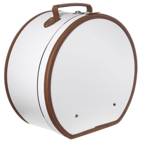 LIERYS Hutkoffer Cremeweiß Hutbox Hutschachtel Transportbox Hüte