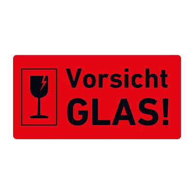 Versandaufkleber Hinweisetiketten Vorsicht Glas Etiketten Warnung Ebay