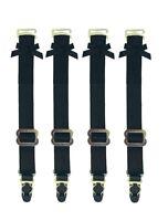 6-8 Detachable Black Metal Hook Garter Straps Thigh High Stockings Belt Corset