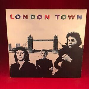 Wings-London-Town-1978-GB-Vinyle-LP-Affiche-Paul-Mccartney-Excellent-Etat