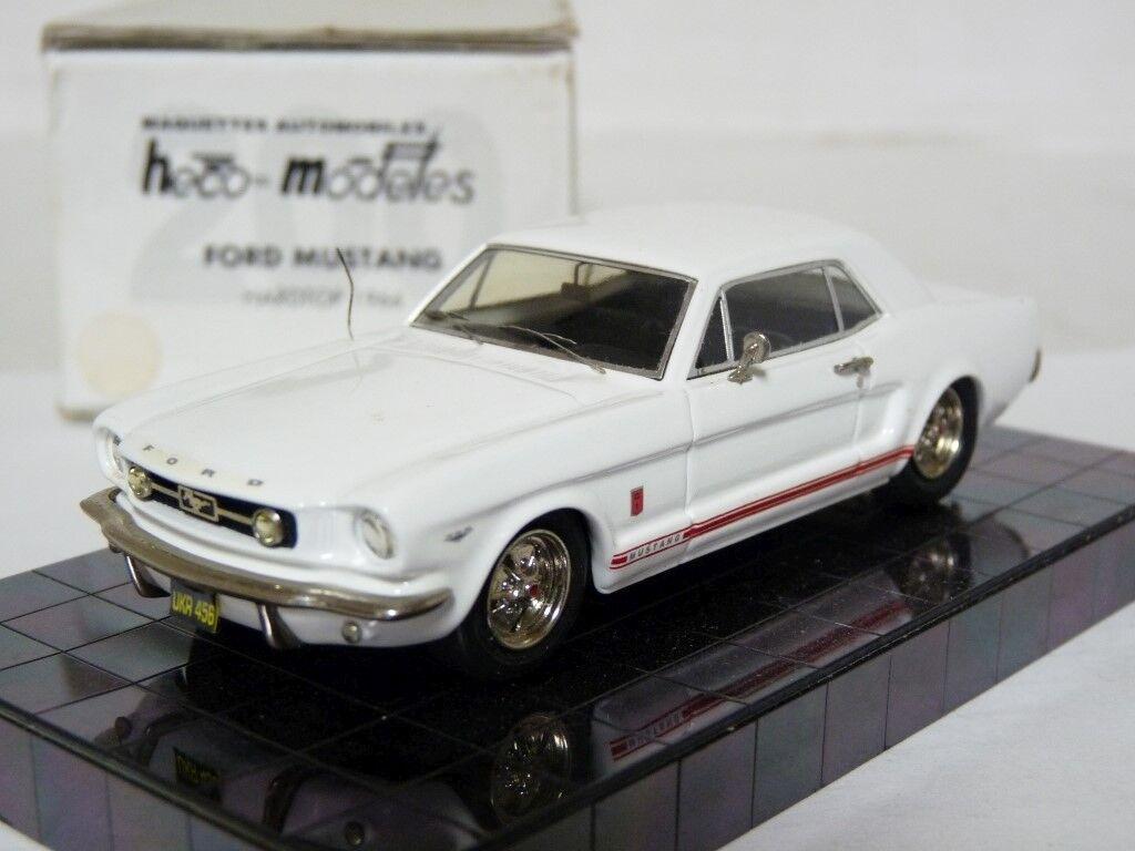 Heco 1 43 1966 Ford Mustang GT Hardtop Handmade Resin Modelll voiture