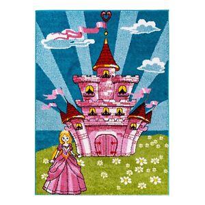 KinderTeppich-fuer-Maedchen-mit-Prinzessin-Kinderzimmer-Kurzflor-Guter-Preis-6133