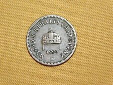 VINTAGE 1899 MAGYAR KIRALYI VALTOPENZ  2 HUNGARY COIN