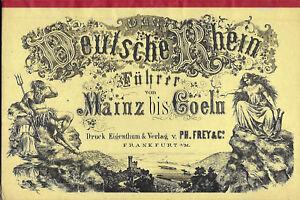 DEUTSCHE-RHEIN-Carte-depliable-du-Rhin-Annees-1890-Alsace-Allemagne-Frey