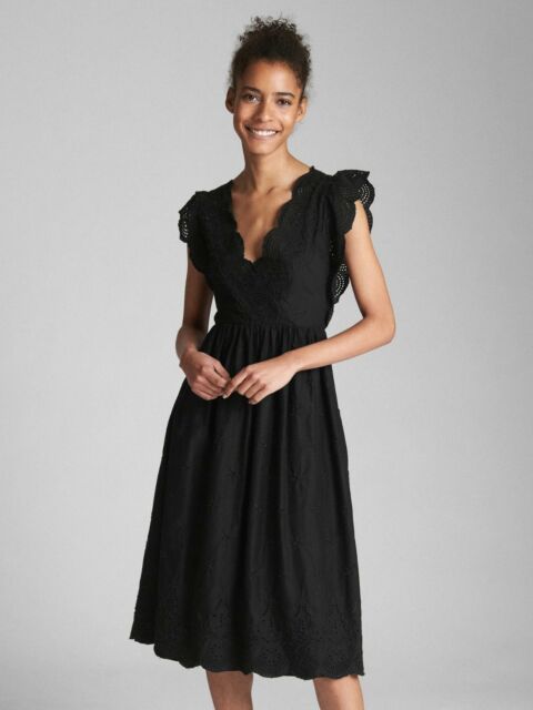 674ab386f5aec Gap Midi Eyelet Dress True Black L for sale online