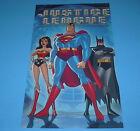 DC COMICS JUSTICE LEAGUE UNLIMITED POSTER PIN UP SUPERMAN,BATMAN,WONDER WOMAN