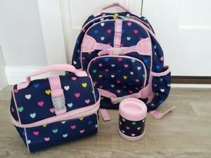 Pottery Barn Kids Hearts 3 Piece Large Backpack Lunchbox