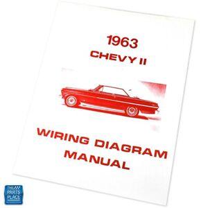1963 Chevy II Wiring Diagram Manual Brochure Each | eBay