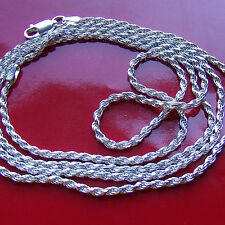 MENS ITALIAN DIAMOND CUT STERLING SILVER ROPE CHAIN,  Size at checkout up to 30""