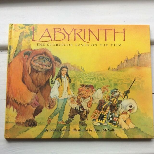 Labyrinth: Storybook based on movie by Louise Gikow (Hardback,1986)- David Bowie
