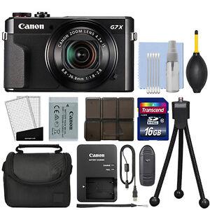 Details about Canon PowerShot G7x Mark II 20 1MP Digital Camera 4 2x  Optical Zoom + 16GB Kit