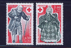 FRANCIA-FRANCE-1977-MNH-SC-B503-04-Red-Cross