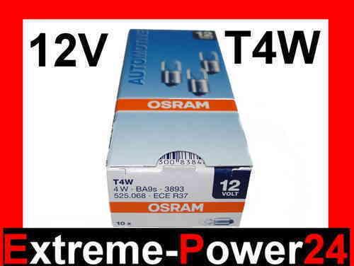 10x OSRAM T4W Kugellampe 12V 4W BA9s Glühlampe Lampe Glühbirne Birne Leuchte