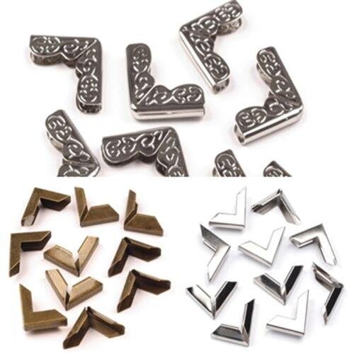 Buchecken Taschenecken messing silber silber bronze vergoldet 16mm x 16mm x 4mm