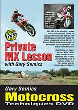 Private Motocross Skills Lesson DVD with Gary Semics