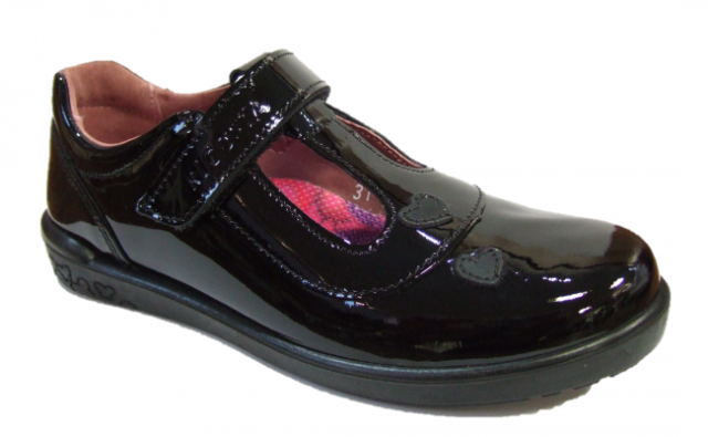 100/% Positive Reviews Petasil Emma Girls Black Leather E /& F Fit School Shoes