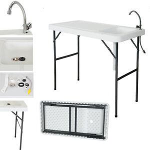 Portable-Camping-Folding-Fish-Cutting-Table-Sink-Faucet-Durable-Outdoor-Garden